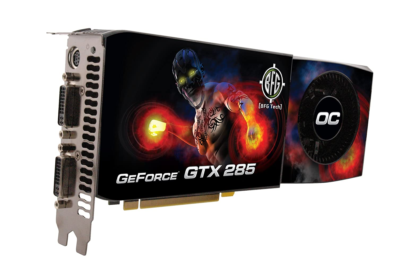 BFG Tech NVIDIA GeForce GTX 285 OC, 1GB, PCIe 2.0 GDDR3 ...