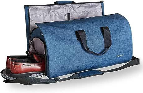Colisal Portatrajes Hombre 60L Bolsa Viaje Plegable, Bolsa Traje con Compartimentos para Zapatos y Correa Bandolera, Funda de Traje Mujeres Azul: Amazon.es: Equipaje