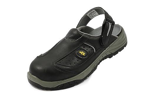 Euro-dan - Protection En Cuir Noir Chaussures Pour Les Femmes Noires, Couleur Noire, Taille 39