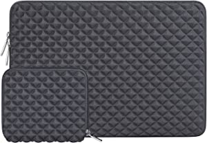 MOSISO Laptop Sleeve Compatible with 13-13.3 inch MacBook Pro, MacBook Air, Notebook Computer, Diamond Foam Neoprene Bag Cover with Small Case, Space Gray