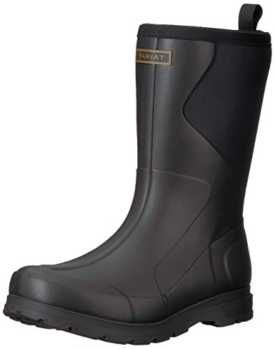 ARIAT Mens Springfield Waterproof Rubber Boot Black Size 10 D/Medium Us