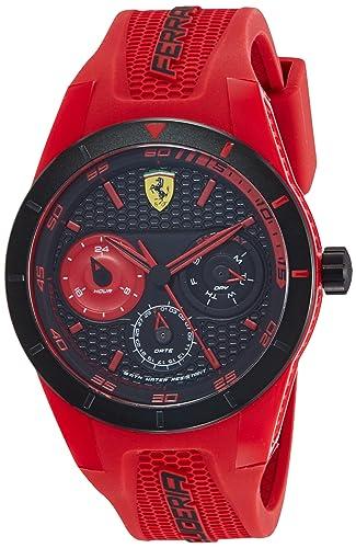 Reloj Scuderia Ferrari para Hombre 0830258, Rojo (Rojo/Negro)