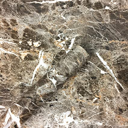 Dark Brown Granite Look Marble Gloss Film Vinyl Self Adhesive Counter Top Peel And Stick Wall