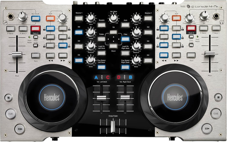 Hercules 4-Mx - Controlador de DJ portátil con audio integrado: Amazon.es: Instrumentos musicales