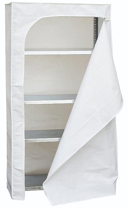 SimonRack SI2108 Funda Estantería, Blanco, 1800 x 900 x 400 mm