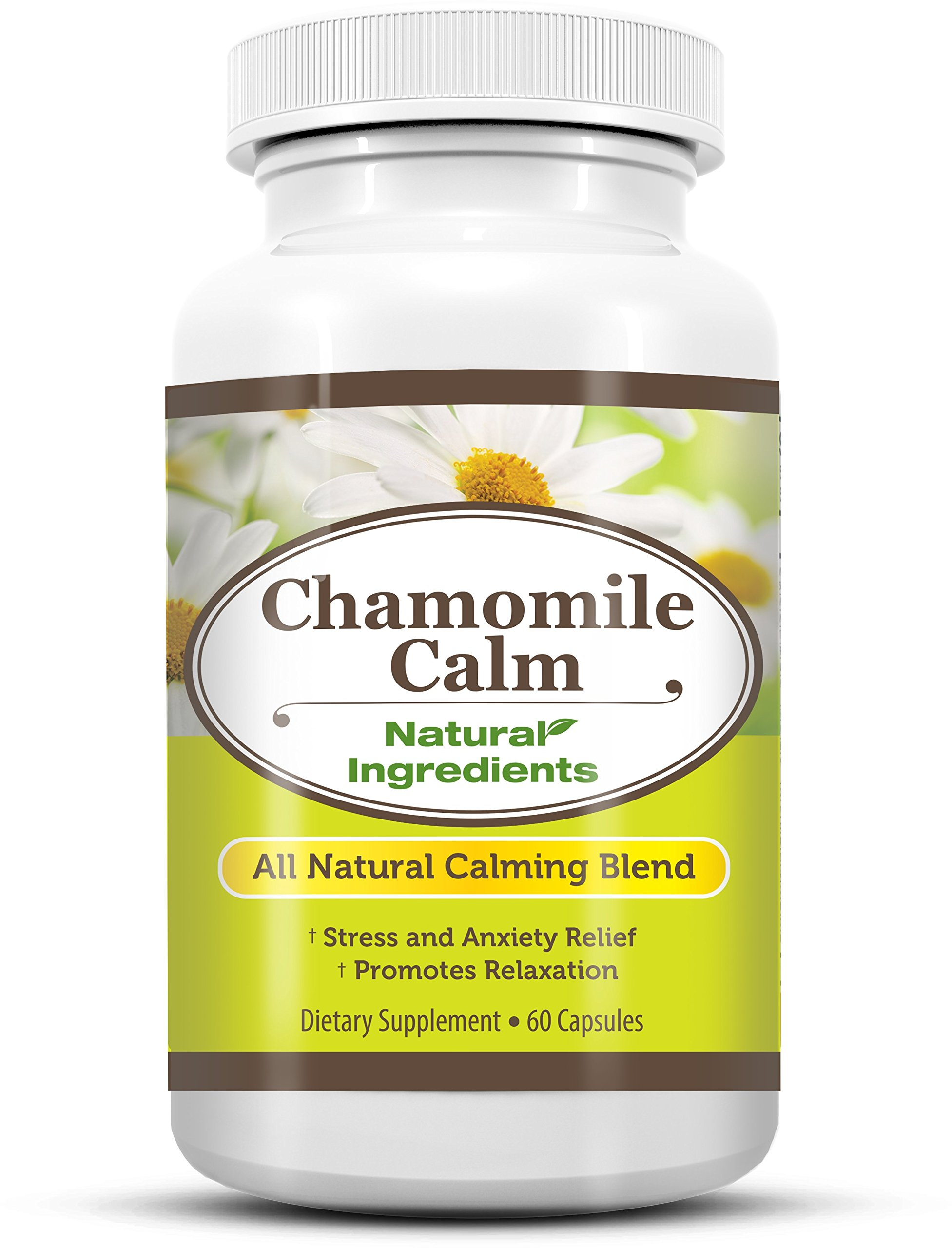 Chamomile Calm - Anti Anxiety & Stress Relief Supplement, Reduce Your Stress and Improve Your Mood, Made in USA