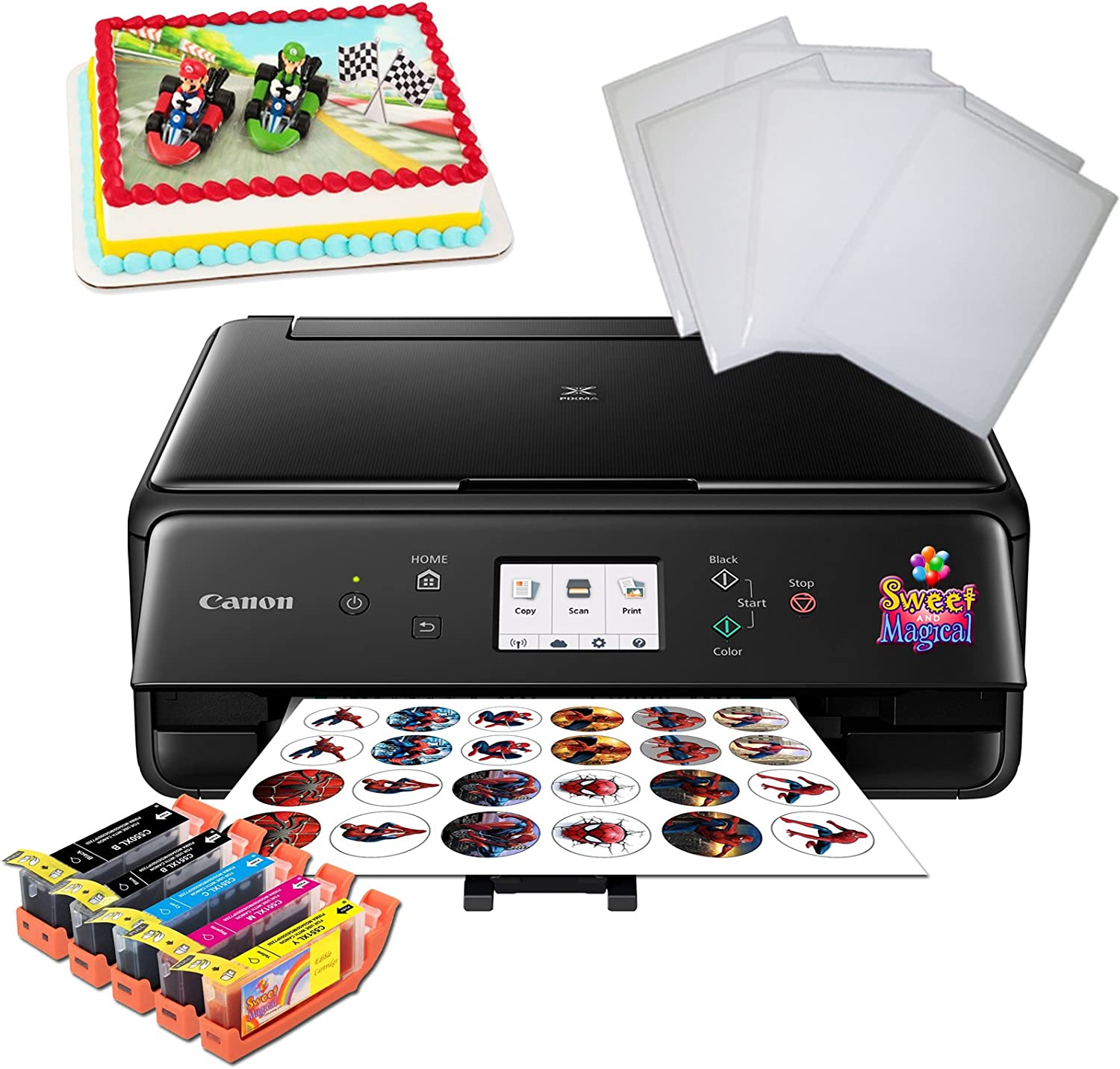 Cake Printer Bundle,Comes with Ink and Frosting Sheets