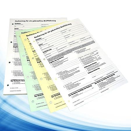 Kfz Auto Kaufvertrag Vordruck 3fache Ausführung Durchschreibsatz