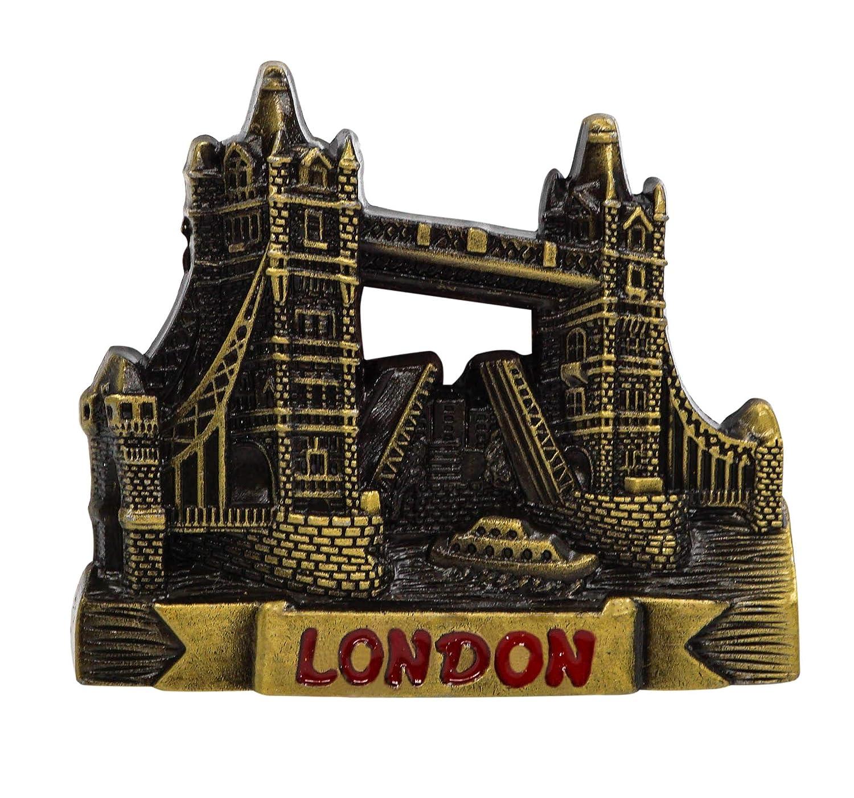 zamonji 3D Metallo Frigorifero Magnete Calamite da Frigo. Souvenir del Turismo Mondiale - Regno Unito (Teddy Bear, Londra)