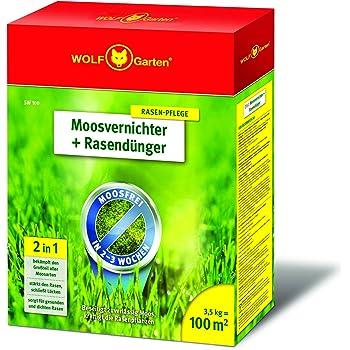 Moosvernichter ist auch für den Rasen erhältlich.