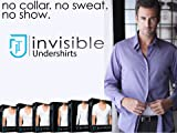 Men's Scoop Neck Invisible Undershirts 3-Pack Small
