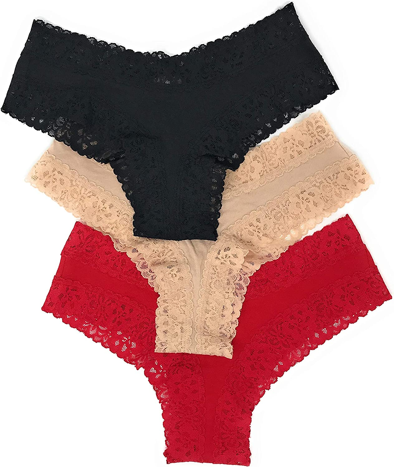 Victorias Secret Pink Cheekster Panty Set of 3