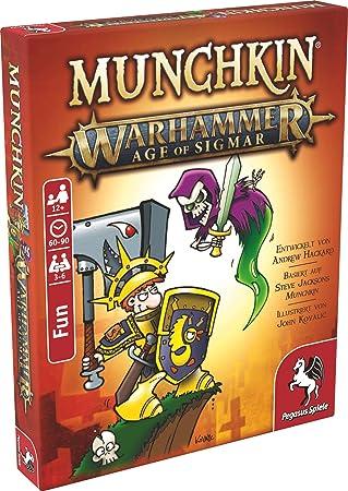 Pegasus Spiele 17020G Munchkin Warhammer Age of Sigmar - Juego de Mesa (Contenido en alemán): Amazon.es: Juguetes y juegos