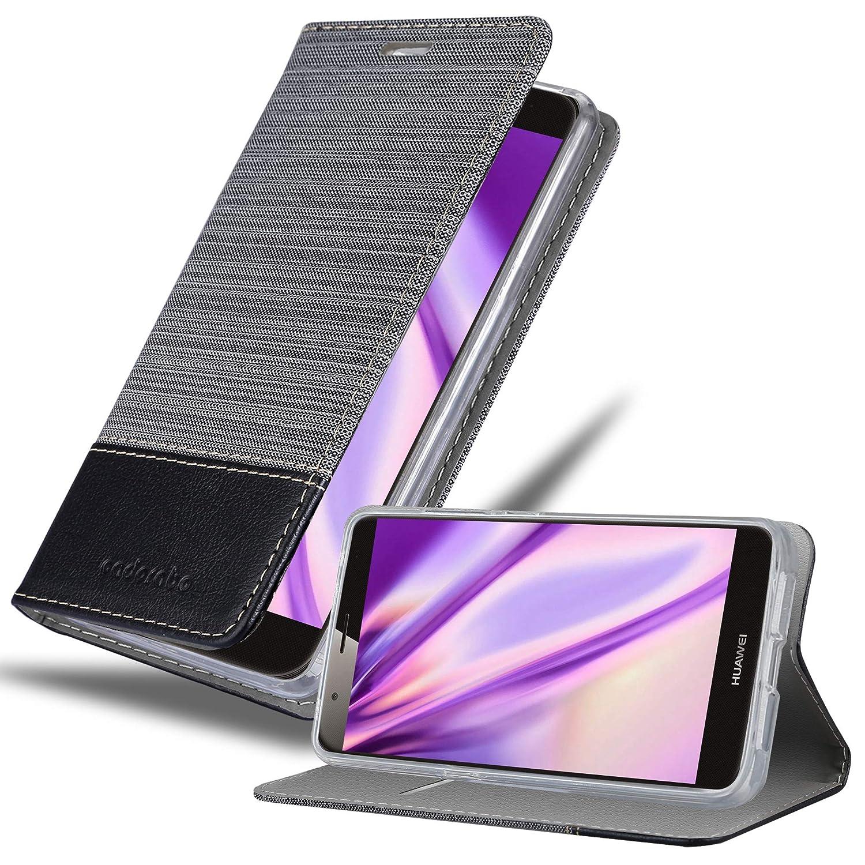 Cadorabo Funda Libro para Huawei G7 Plus / G8 / GX8 en Gris Negro ...