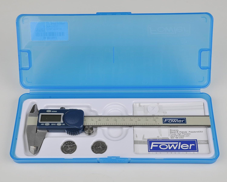"XL Display Fowler 54-101-600-1 Xtra-Value Cal Electronic Caliper 0-6/""//0-150mm"