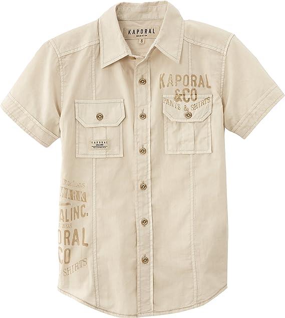 KAPORAL Slova - Camisa para niño, Talla 4 años (4 años), Color Beige (Mastic): Amazon.es: Ropa y accesorios