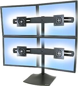 Ergotron–DS100QuadMonitor Desk Stand–Black