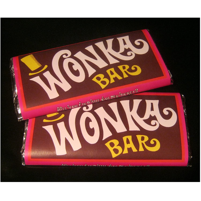 Wonka Style Chocolate Bar Christmas Gift Golden Ticket LARGE 200G ...