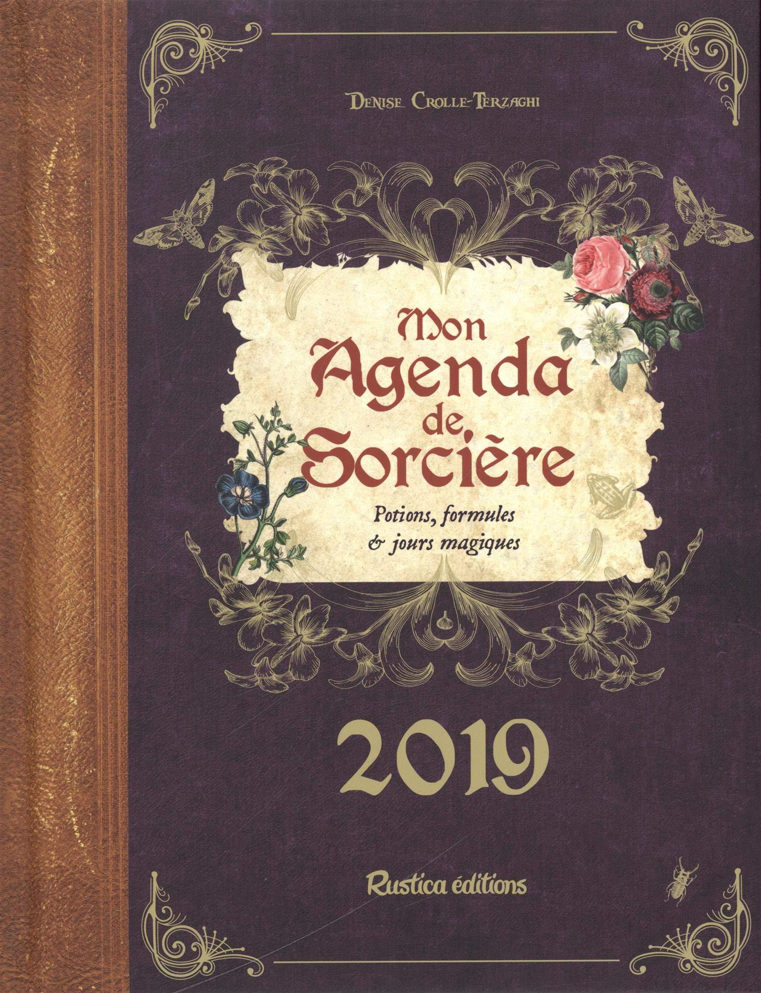 Calendrier Lunaire Septembre 2020 Rustica.Amazon Fr Mon Agenda De Sorciere 2019 Denise Crolle