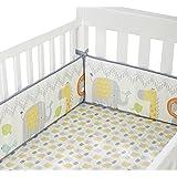 Cuddletime Globetrotter Crib Bumper, Gray