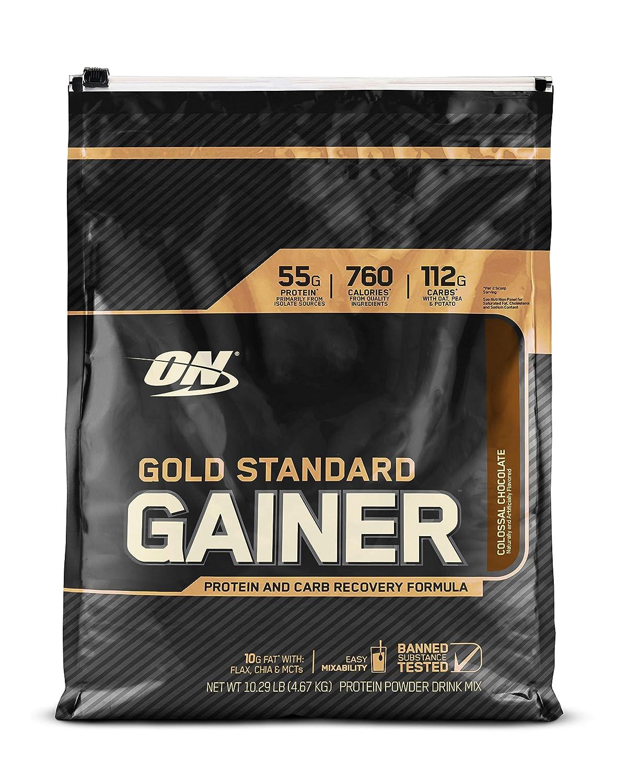ゴールドスタンダードゲイナー 4.54kg (Gold Standard Gainer 10.6lb) (コロッサルチョコレート) B01LCC1A0S