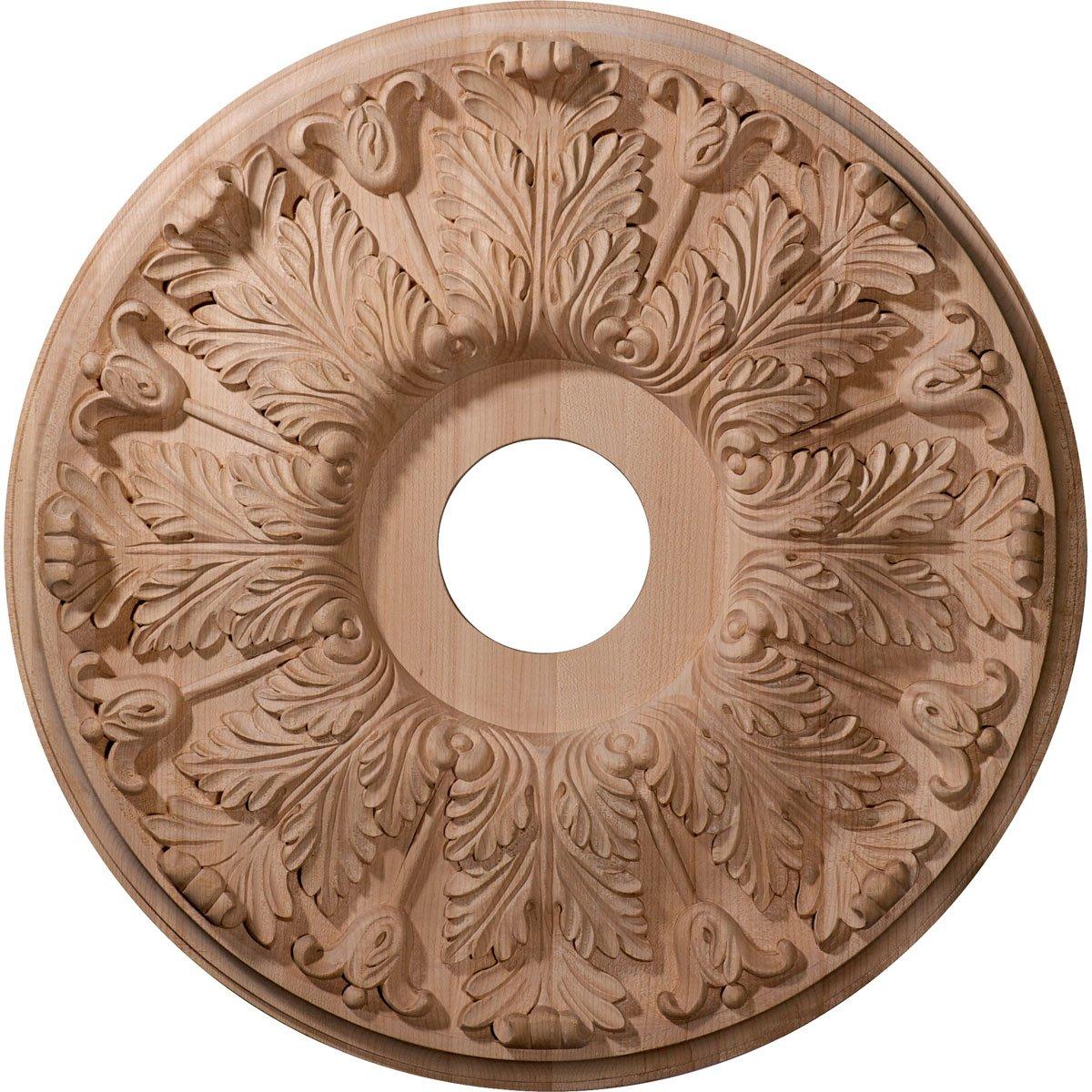 Ekena Millwork CMW16FLRO Ceiling Medallion 16OD x 3 7//8ID x 1 1//8P Red Oak