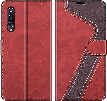 MOBESV Funda para Xiaomi Mi 9 Se, Funda Libro Xiaomi Mi 9 Se, Funda Móvil Xiaomi Mi 9 Se Magnético Carcasa para Xiaomi Mi 9 Se Funda con Tapa, Rojo: Amazon.es: Electrónica