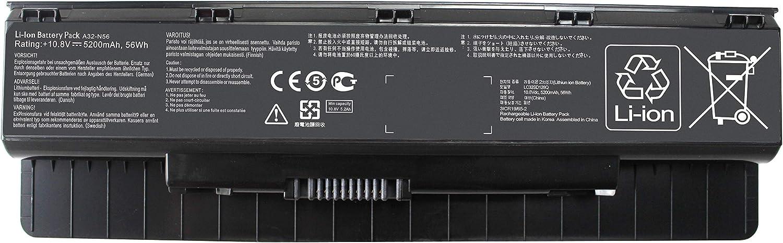 Shareway 5200mAh Replacement Laptop Battery for Asus N46 N46V N46VM N46VZ N46VJ N56 N56V N56VB N56VM N56VV N56VZ N56VJ N56vj-dh71 A31-N56 A32-N56 A33-N56