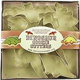 Fox Run 3641 Dinosaur Cookie Cutter Set, Stainless Steel, 5-Piece