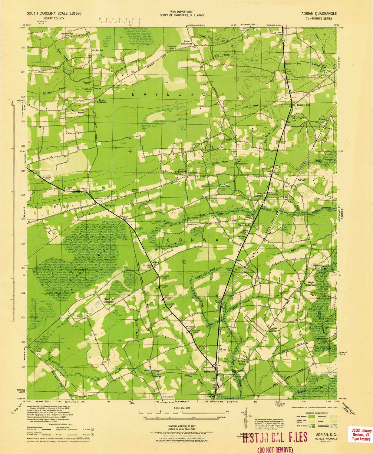 Amazon Com Yellowmaps Adrian Sc Topo Map 1 31680 Scale 7 5 X 7 5