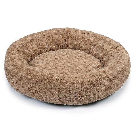 Slumber Pet Peluche con Forma de Remolino de Dormir Mascota Camas – Suave y Acogedor rosquilla
