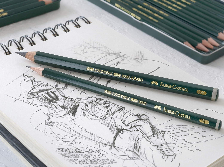 graduation 2H /Blister avec 2/crayons graphite CASTELL 9000 /2h-2/ Faber-Castell b-9000/