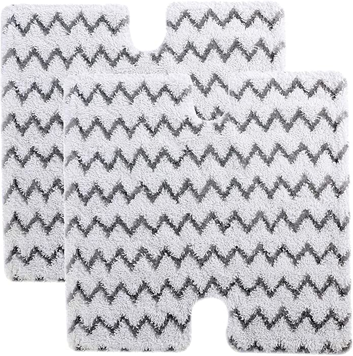 Rongbenyuan Shark Steam Mop Pads - 2pcs Replacement Mashine Washable Reusable Pads for Shark Steam Mop S6001W, S6001WM, S6002, S6003W, S5003A, S5003D, S3973, S3973D, S3973WM