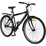"""Spartan 26"""" Commuter Steel MTB Moutain Bicycle Black"""