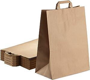 Brown Kraft Paper Bags 100 Pcs ? 16.5