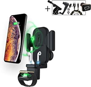 2BConnect 3 in 1 Wireless Car Charger Apple Watch charger iPhone Airpods Apple wireless Charging Pad,Qi wireless charger Apple Airpods charging station,Samsung Wireless Charger iPhone X/8/XS/XR/Xs Max