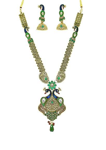Zaveri Pearls Necklace Set for Women (Multi-Colour)(ZPFK2037) Jewellery Sets at amazon