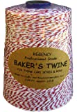 Regency RW1627 Baker's Twine Cone Red and White, 2300-feet Multi