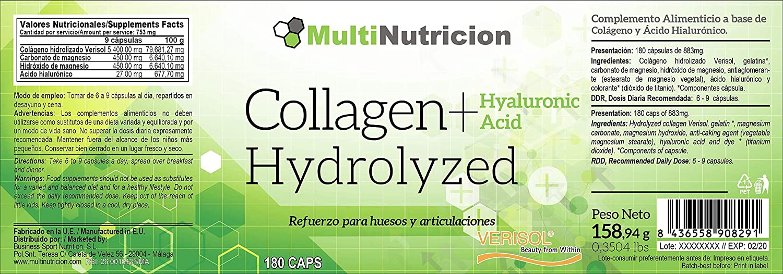 Colageno Hidrolizado Verisol® + Acido Hialuronico + Magnesio ...
