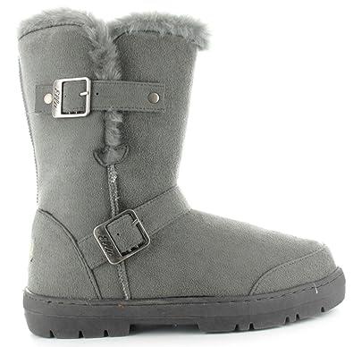 f8c3c8ea16c5 Ladies Ella Alex Faux Suede Fur Lined Ankle Winter Boots UK 3-8  Amazon.co. uk  Shoes   Bags