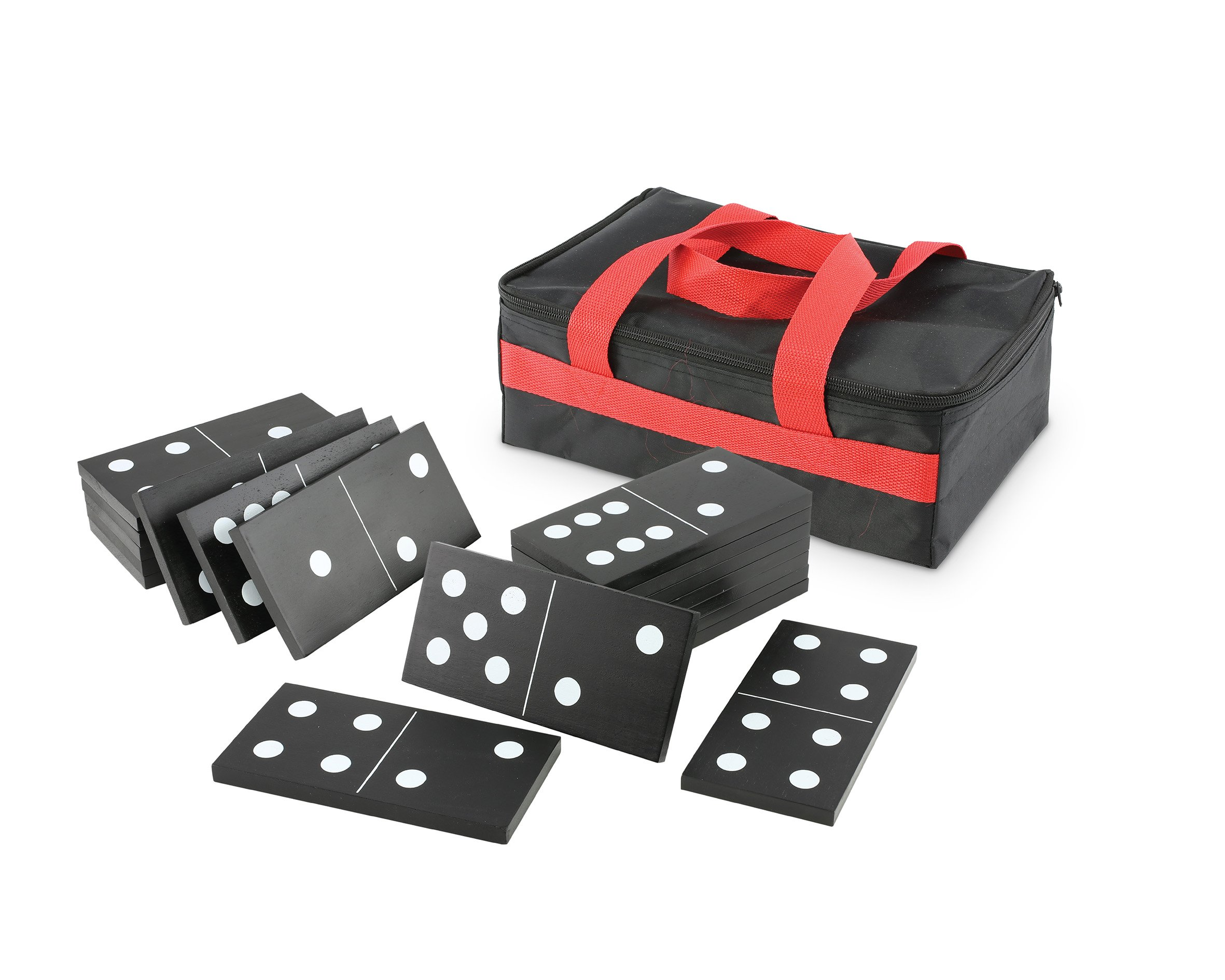 Kovot Oversize Wood Dominoes Set With Carry Bag - Includes 28 Domino Tiles 7'' x 3 1/2 x 1/2 Each