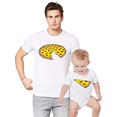 bca927f5 Father Daddy Daughter Dad Son Matching T Shirts One Slice Missing Pizza:  Amazon.co.uk: Clothing