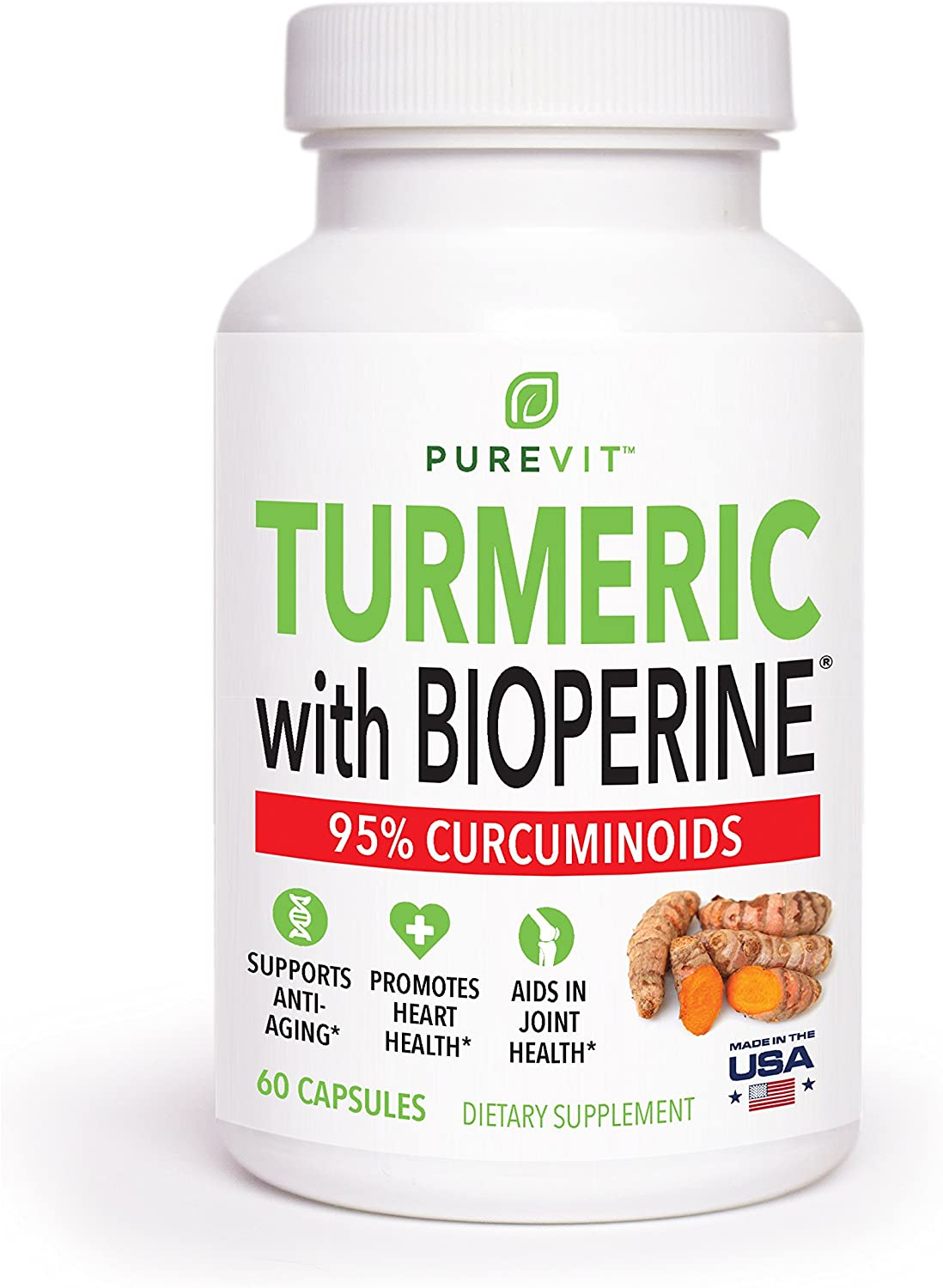 Max Strength Turmeric Curcumin with Bioperine Absorption Enhancer Powerful 1200 mg Pain Relief Formulation Best Turmeric Curcumin Supplements for Back Pain, Joint Pain, Inflammation Health