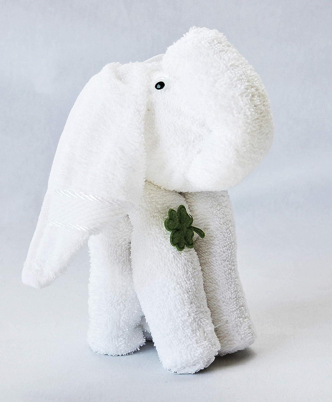 /Éponge Coffret cadeau Origami Serviette Serviette Gant de toilette Motif//Type /él/éphant blanc