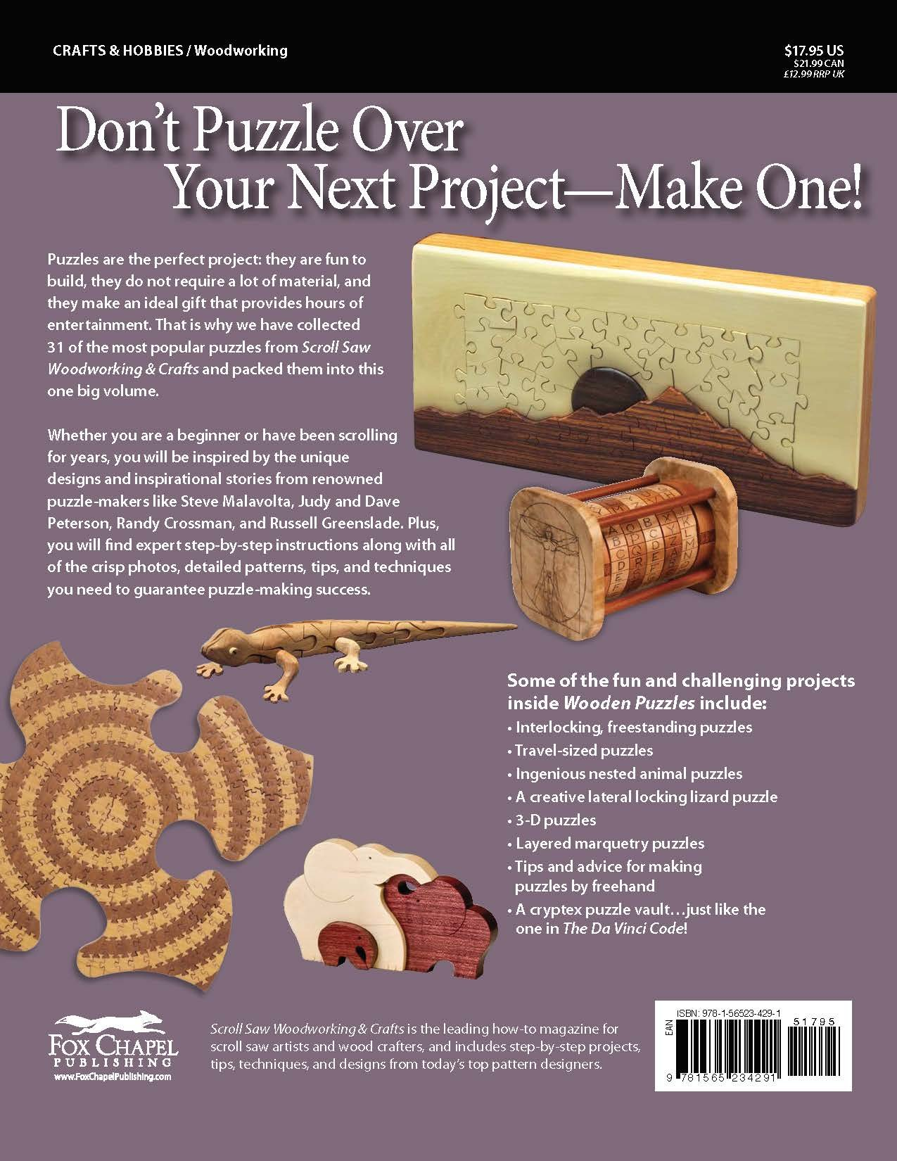 Wooden puzzles 31 favorite projects and patterns best of scroll wooden puzzles 31 favorite projects and patterns best of scroll saw woodworking crafts magazine editors of scroll saw woodworking crafts fandeluxe Images