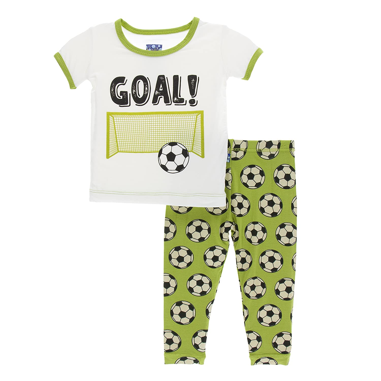 adeed70969 Amazon.com  Kickee Pants Print Short Sleeve Pajama Set  Infant And Toddler Pajama  Sets  Clothing