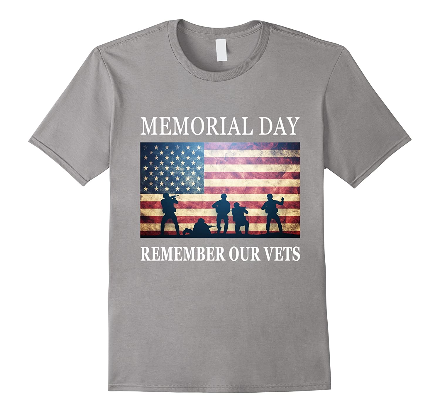 Remember Our Vets - Soldiers Military Memorial Day T-Shirt-Art