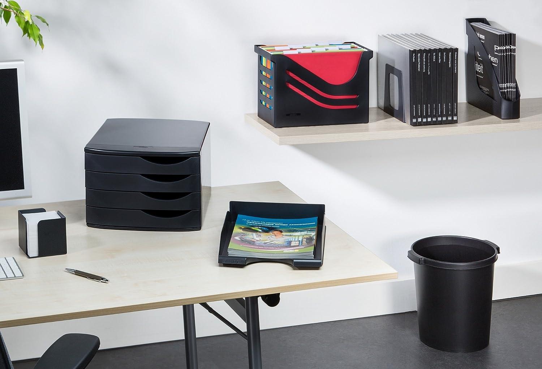 blau Re-Solution Office Box H/ängeregister inklusiv 5 H/ängemappen A4 Jalema 2658026992 farbig sortiert