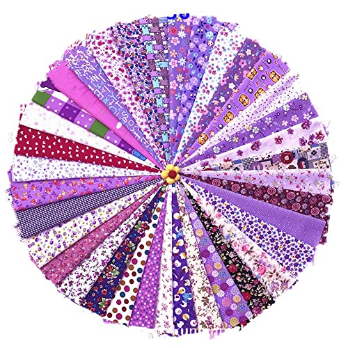RayLineDo 10/pcs diferente patr/ón Multi Color 100/% algod/ón popel/ín Tela Fat Quarter Bundle 18/x 22 dise/ño de patchwork de tela para almazuela