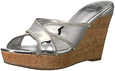 dfd7922deec GUESS Women s Eleonora Wedge Sandal
